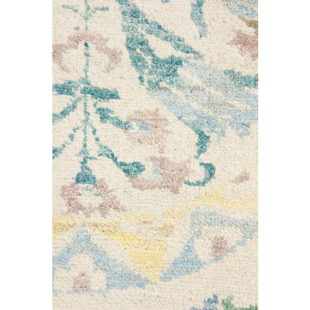 """Contemporary Suzani Hand Knotted Area Rug - 8'4"""" X 9'10"""" For Sale - Image 3 of 3"""
