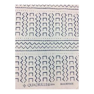 Quadrille Blue & White Fabric- 2 1/3 Yards