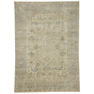 Contemporary Transitional Oushak Style Rug - 6′1″ × 8′7″ For Sale