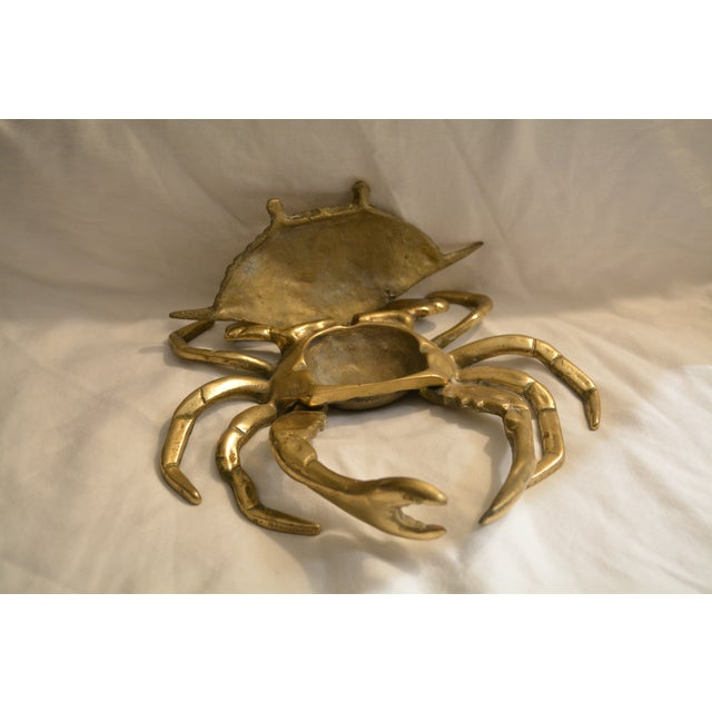 Vintage Lidded Brass Crab Ashtray - Image 4 of 6