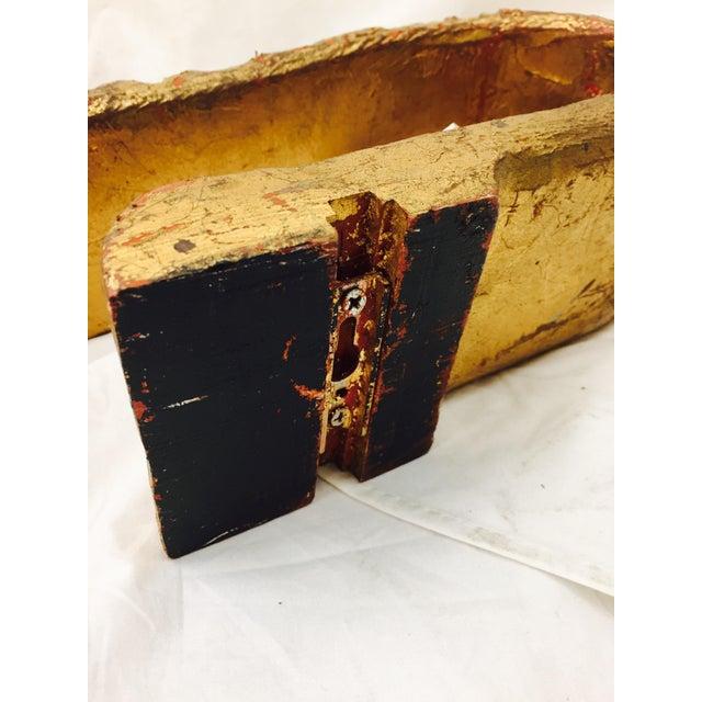 Wood Vintage Gilded Tie Back For Sale - Image 7 of 9