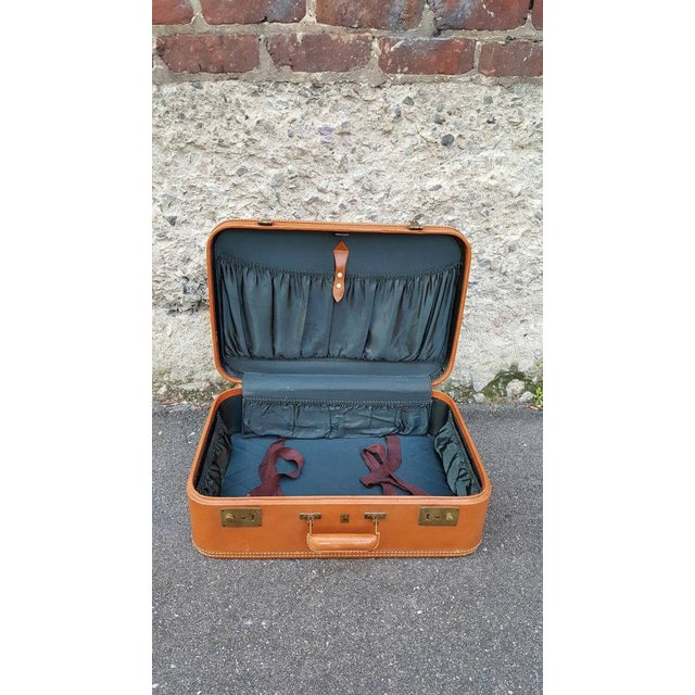 1950's Leather Suitcase Trunk - Image 5 of 5