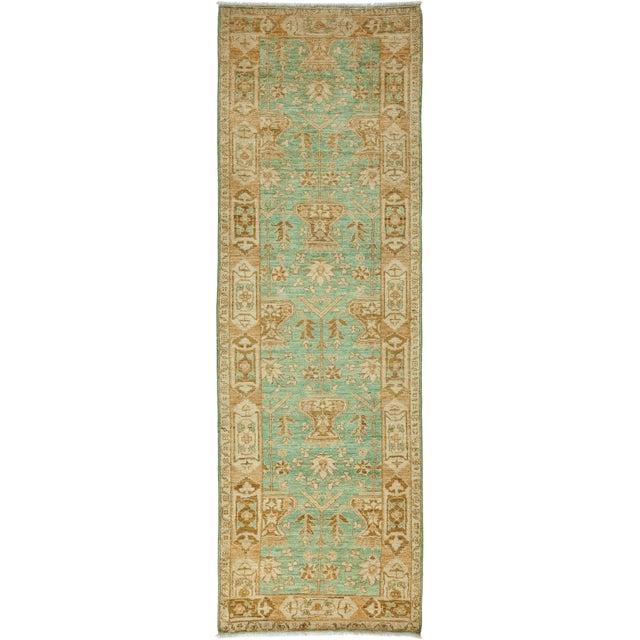 Green Oushak Runner Rug For Sale - Image 4 of 4