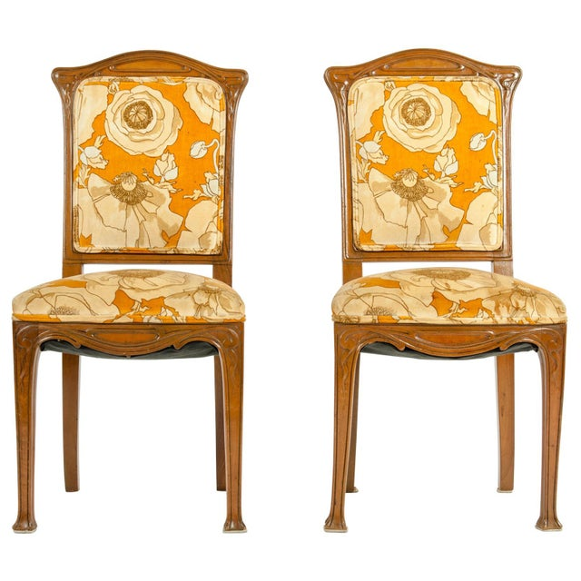 Vintage Louis Majorelle Side Chair - a Pair For Sale - Image 13 of 13