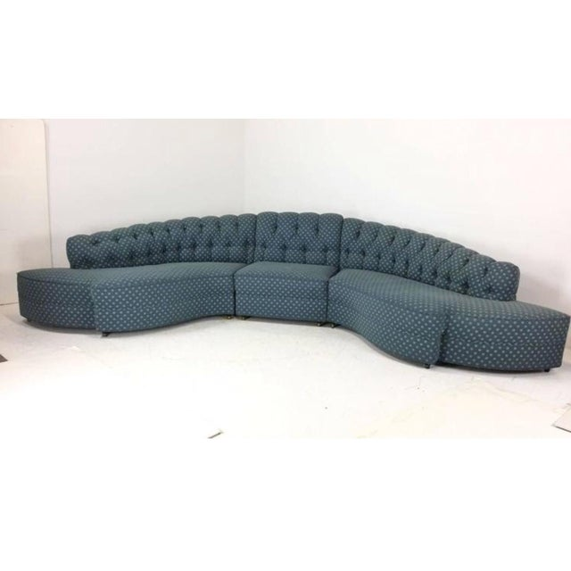 Textile 1930's Regency Sectional With Ottoman - A Pair For Sale - Image 7 of 7