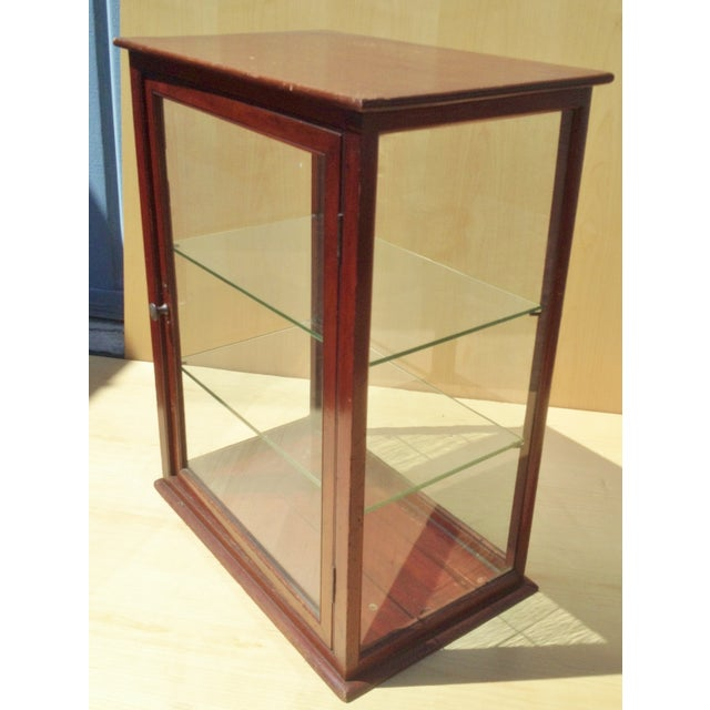 19th C. English Mahogany Counter Top Display Case - Image 2 of 6