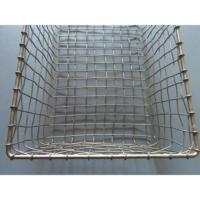 French Wire Vintage Style Market Baskets- Set of 3 - Image 7 of 11