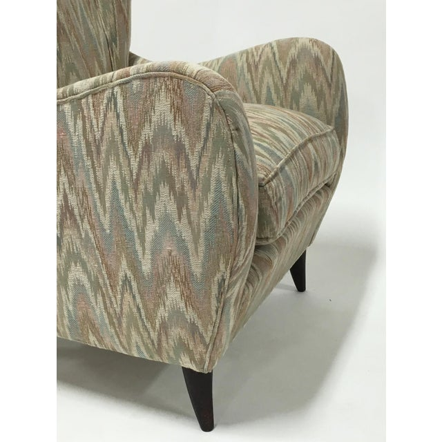 Italian High Back Lounge Chairs - A Pair - Image 8 of 11