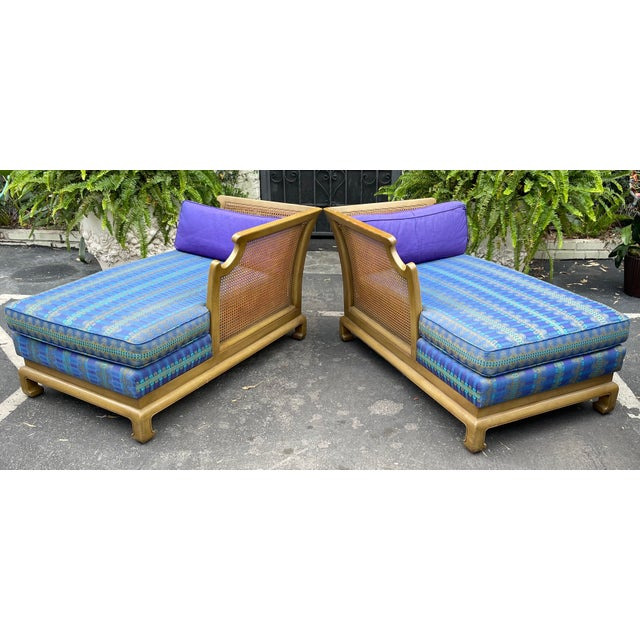1950s Grosfeld House Hollywood Regency Mid Century Modern Chinese Chippendale 2 Part Sofa For Sale - Image 5 of 6