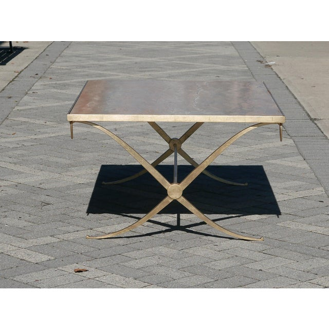 Late 20th Century Gilt Iron Coffee Table by Barbara Barry For Sale - Image 5 of 7