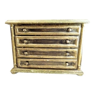 Vintage Florentine Gold Mini Chest