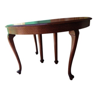 Mid-Century Oak Dining Room Table For Sale