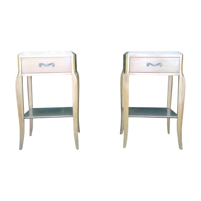 Mid Century 50's French Deco Nightstands - Pair - Image 1 of 3