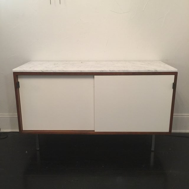 Florence Knoll Bianco Marble Top Credenza - Image 3 of 11
