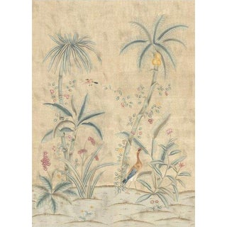 "Casa Cosima Maya Antiqued Wallpaper Mural - 2 Panels 72"" W X 108"" H For Sale"