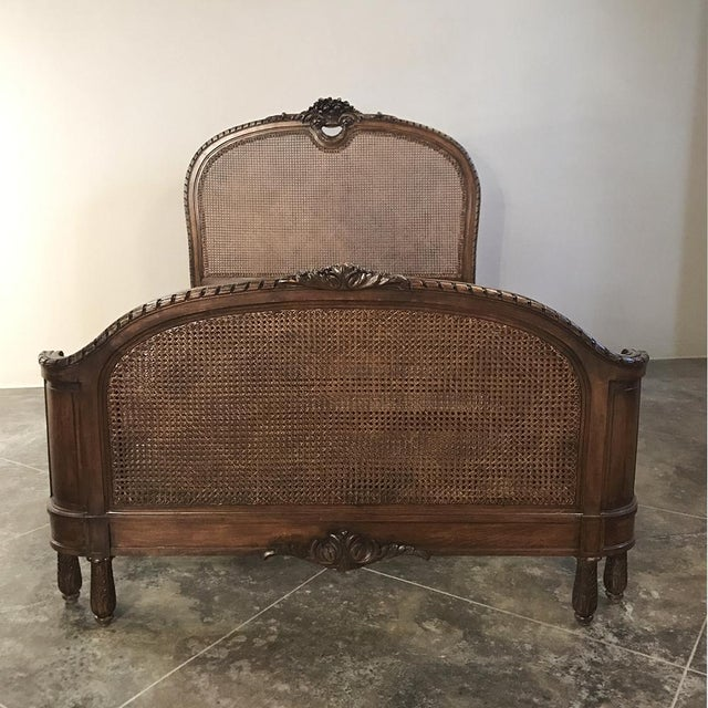 19th Century French Walnut Louis XVI Neoclassical Bed Ca. 1870 For Sale In Baton Rouge - Image 6 of 10