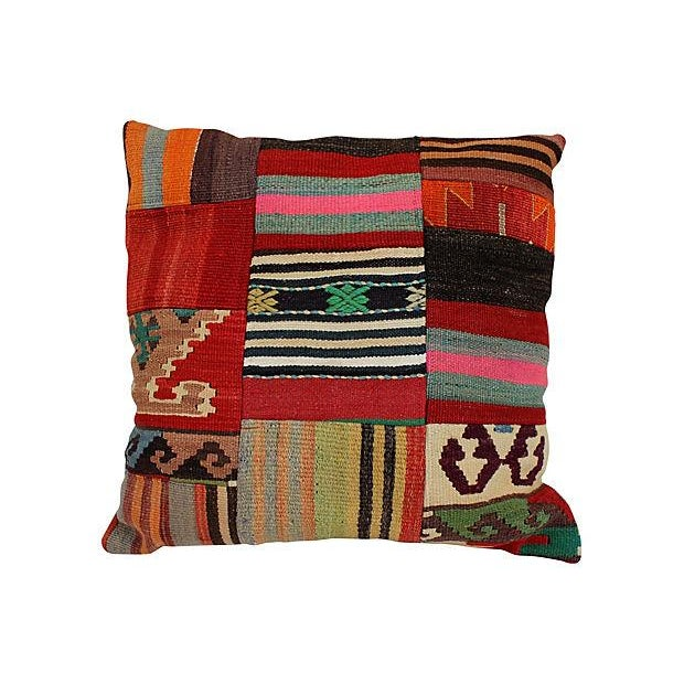 Patchwork Kilim Large Pillow - Image 1 of 5