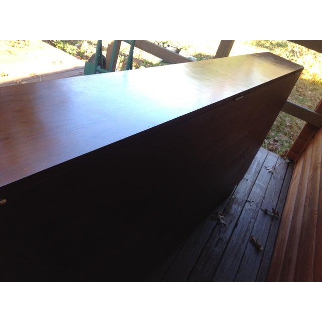 Architect's Pickle Mahogany Instrument Chest for King Headboard For Sale - Image 9 of 13