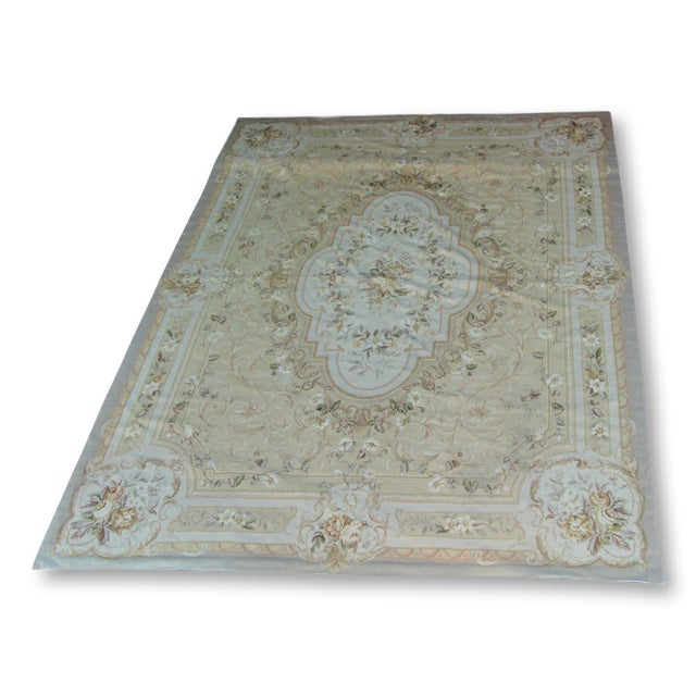 "Vintage French Aubusson Needlepoint Rug - 7' 8"" X 9'11"" - Image 2 of 11"