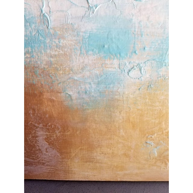 Contemporary Original Textured Modern Art Landscape Painting For Sale - Image 3 of 4