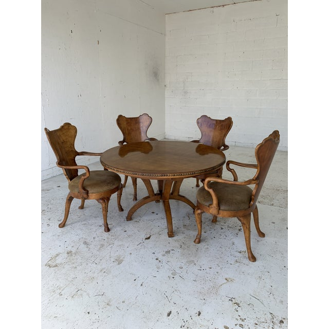 Century for Robb & Stucky Burled Walnut 'Gaudí' Style Dining Set - 5 Pieces For Sale - Image 11 of 11