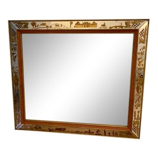 Églomisé Chinoiserie Mirror For Sale