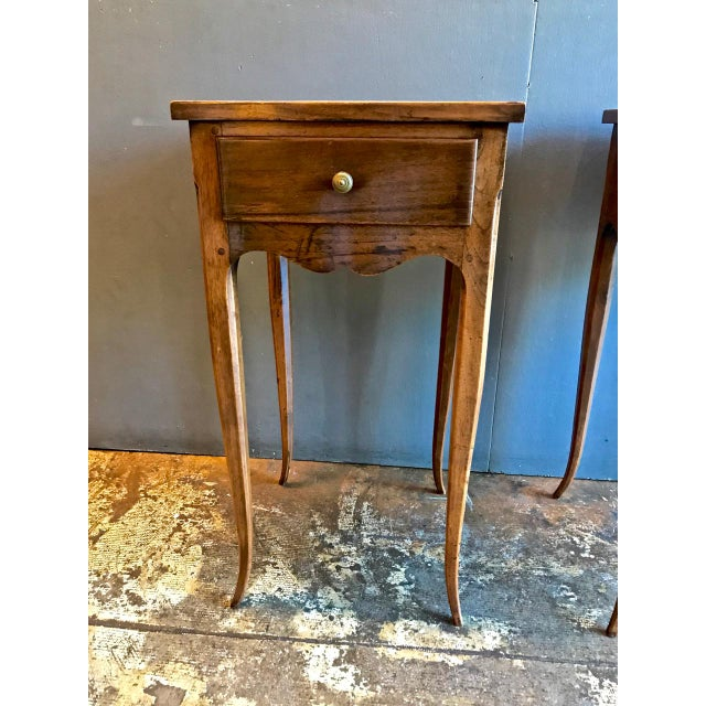 Mid 19th Century 19th Century Vintage French Louis XV-Style Walnut Stands- A Pair For Sale - Image 5 of 9