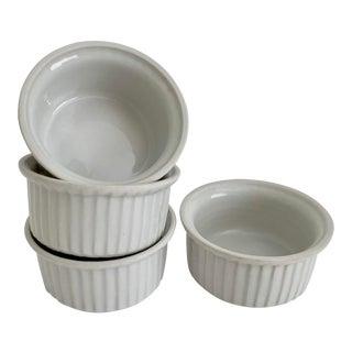 Midcentury French Porcelain Ramekins - Set of 4 For Sale