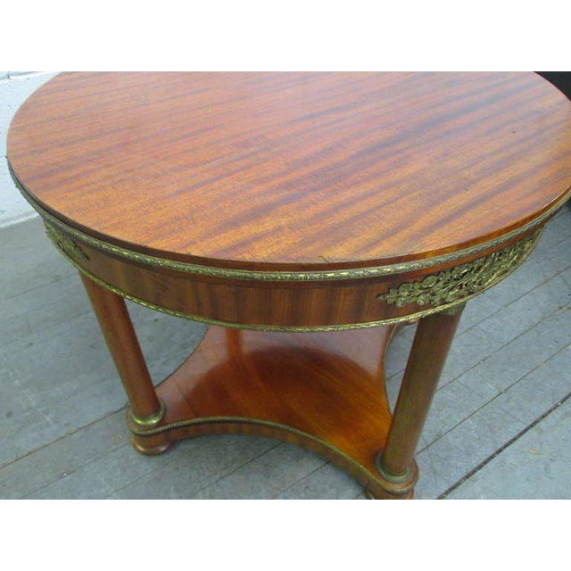 Mahogany French Gueridon Table For Sale - Image 4 of 6