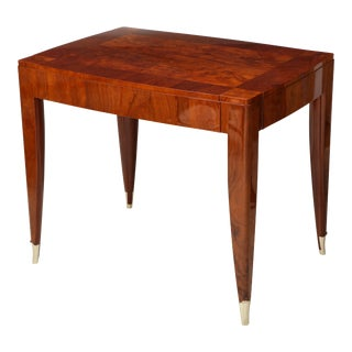 Bespoke Walnut Table in the Manner of Jules Leleu For Sale