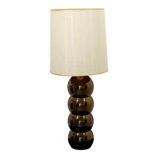 1960s Mid-Century Modern Robert Sonneman Copper Bubble Table Lamp For Sale