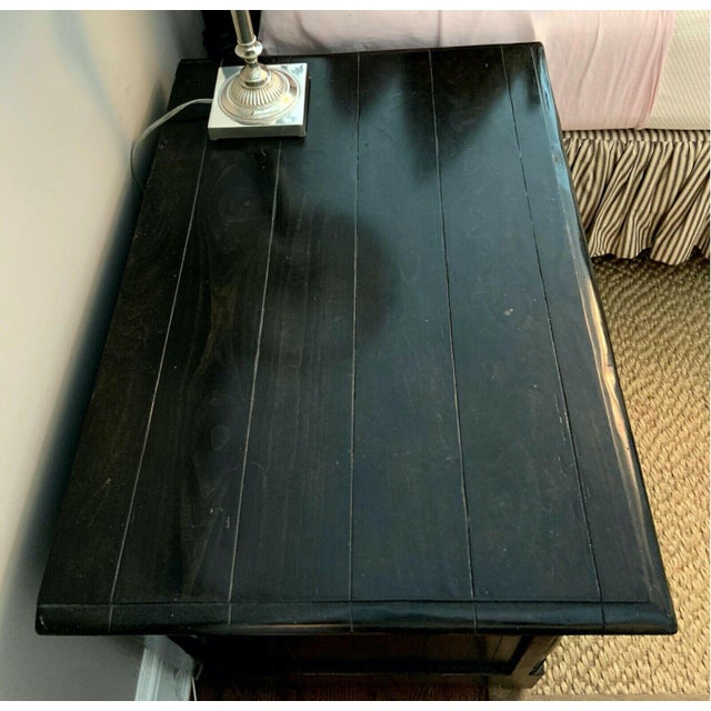 Bausman & Company English Nightstand With Inlaid Plank Top For Sale - Image 4 of 13
