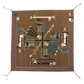 Ruby Manuelito - Navajo Sandpainting Whirling Log Ceremonial Design Tapestry Weaving