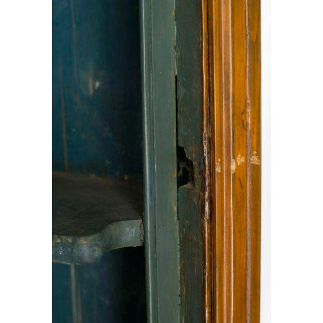 Georgian Mid 19th Century Blue Interior Painted Corner Cupboard For Sale - Image 3 of 4