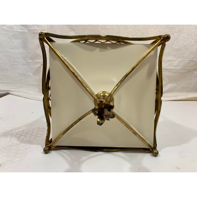 Metal 1920s French Style Basket Lantern For Sale - Image 7 of 8