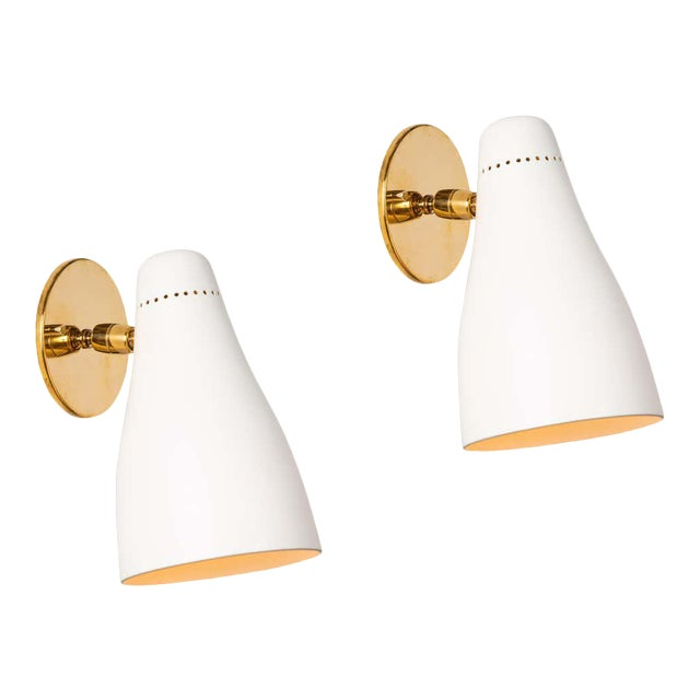 1950s Gino Sarfatti Perforated Cone Sconces for Arteluce - a Pair For Sale