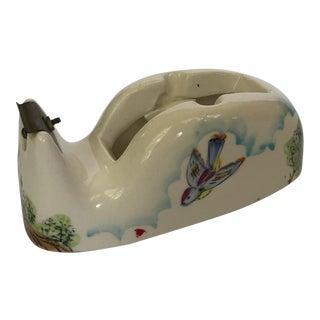 Vintage Ceramic Fred Roberts Tape Dispenser For Sale