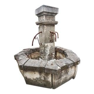 Mid 19th Century Antique Central Fountain, Four Spout For Sale
