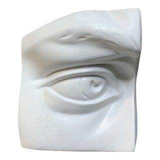 Classical Plaster Model of Eye Michelangelo's David's Right Eye For Sale