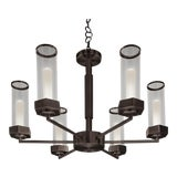 Image of Black Bronze Ceiling Light For Sale