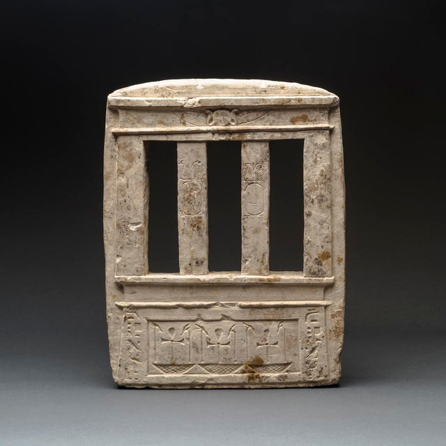 Traditional Egyptian Sandstone Model of a Temple Facade For Sale - Image 3 of 3