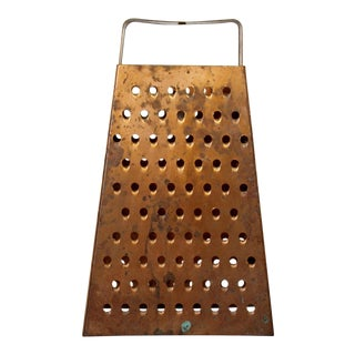 Mid Century Modern Style Copper Cheese Grater Light Fixture Chandelier 70s For Sale
