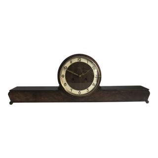 1940's Vintage Art Deco German Mantel Clock For Sale