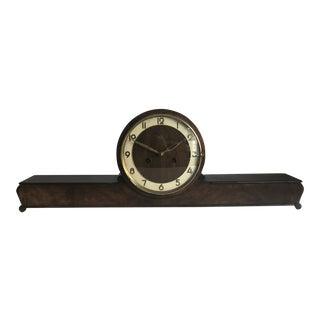 1940's Vintage Art Deco German Mantle Clock For Sale