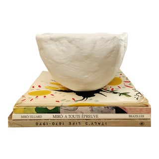 The Finn Thick Plaster Modern Decorative Bowl For Sale