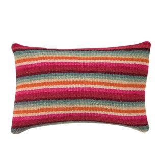 Multi Colored Striped Peruvian Pillow