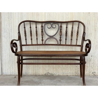 20th Century Bentwood Sofa in the Thonet Style, Circa 1925, Caned Seat Preview
