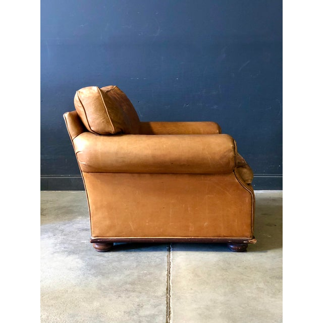 Ralph Lauren Vintage Ralph Lauren Camel Leather Chair For Sale - Image 4 of 10