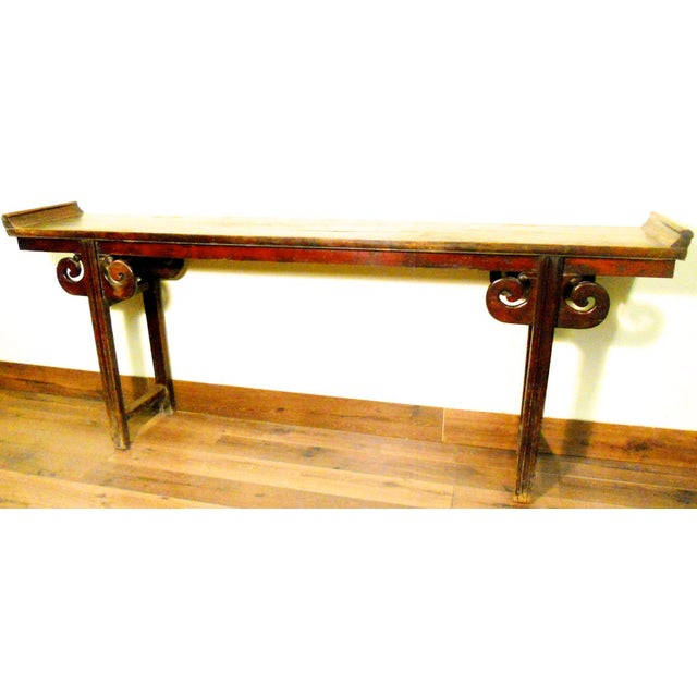 This Antique Chinese Altar Table is hand crafted in elegant Ming style furniture with simple and straight lines....