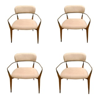 Modern Henredon Madison Arm Chairs- Set of 4 For Sale